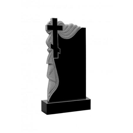 Гранитный памятник на могилу Крест крупный с драпировкой