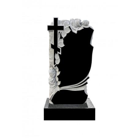 Гранитный памятник Крест и Розы