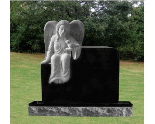 Памятник из гранита с Ангелом sp01611