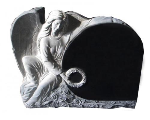 Памятник из гранита Ангел с венком sp01614