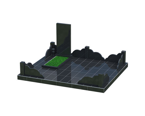 Одинарный прямоугольный памятник - 3D модель