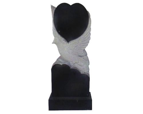 Памятник вертикальный с голубем и сердцем sp01413