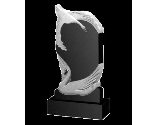 Резной памятник Лебединая верность sp01424