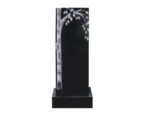 Памятник вертикальный с березкой sp01407