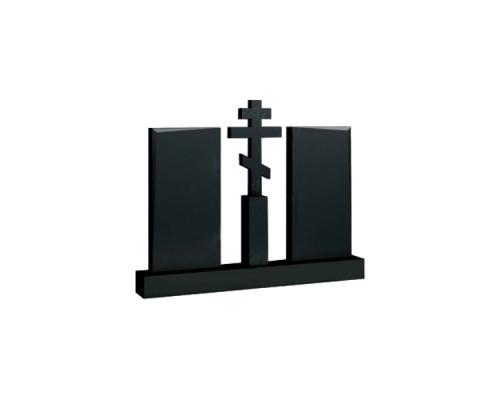 Двойной памятник с Крестом №06