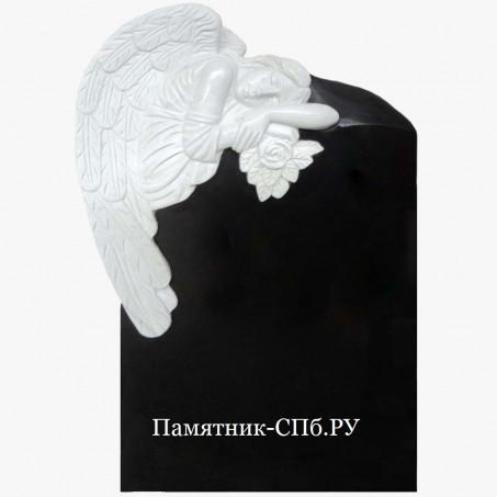 Памятник мраморный ангел на гранитной плите