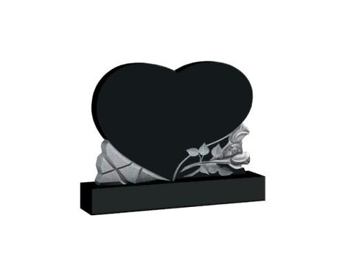 Памятник с сердцем и розами №06