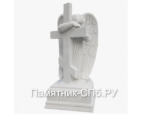 Ангел склонившийся на крест