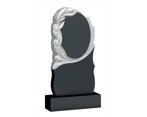 Памятник Круглый портрет с тюльпанами sp01546
