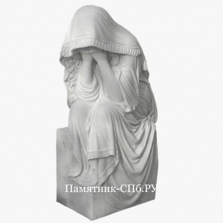 Скульптура девушка под вуалью
