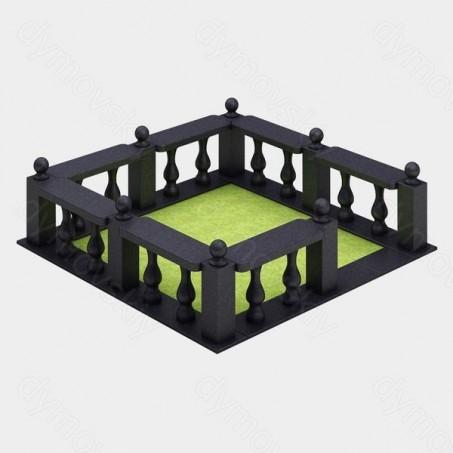 Ограда на могилу из гранита
