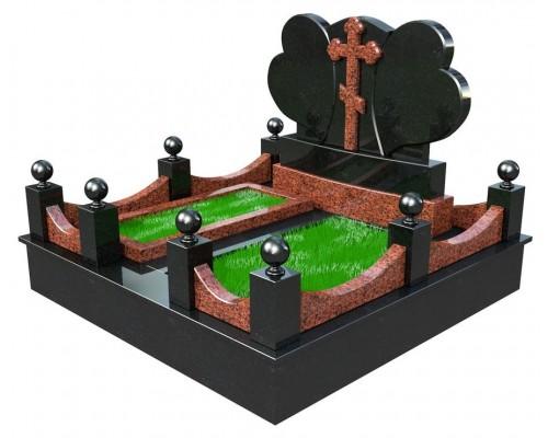 Семейный элитный памятник Два Сердца - 3D модель
