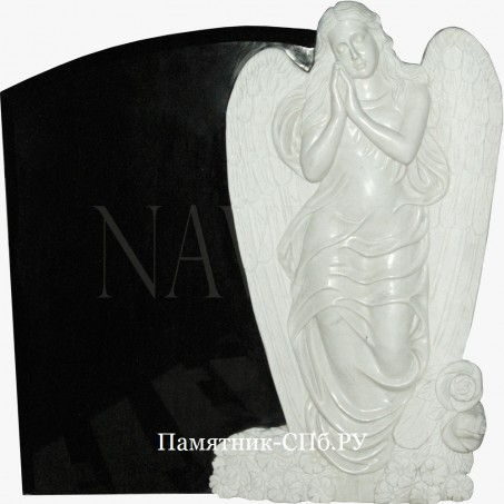 Памятник с ангелом на граните