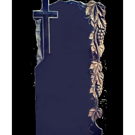 Вертикальный памятник на могилу с Крестом и виноградной лозой
