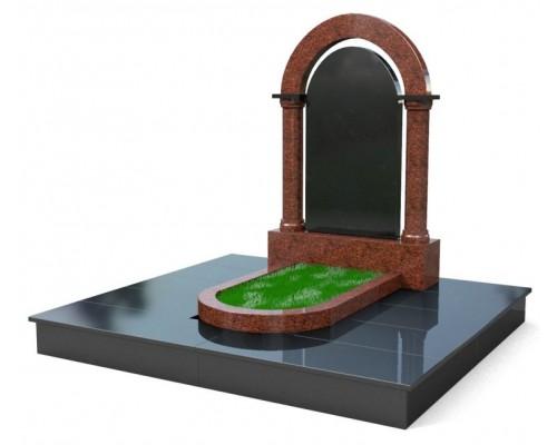 Мемориальный комплекс Арка из двух цветов гранита - 3D модель