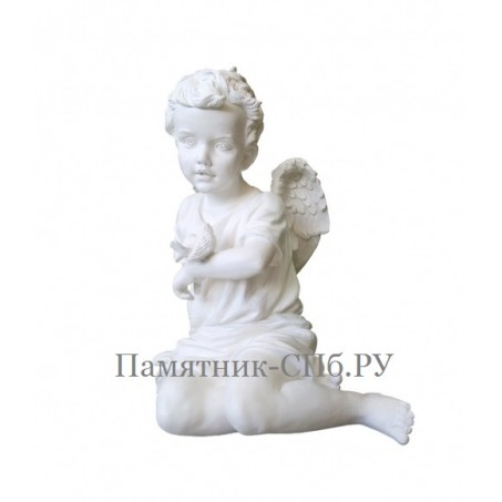 Скульптура Ангелочка с птицей