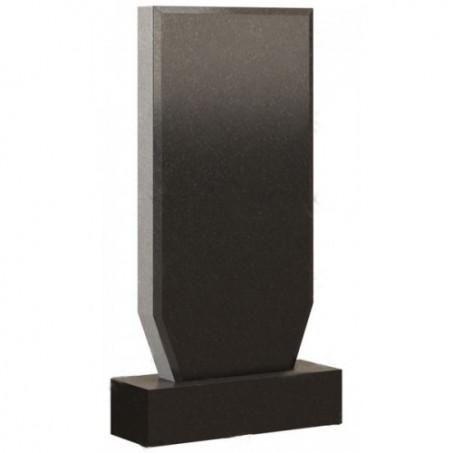 Стандартный вертикальный прямоугольный памятник со срезанными внизу углами