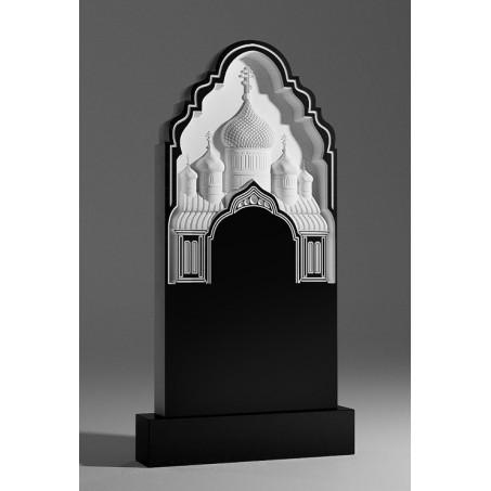 Надгробный православный памятник с резной церковью