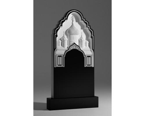 Надгробный памятник с резной церковью sp01372