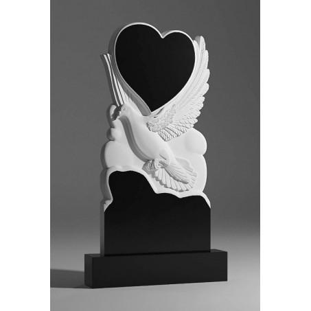 Памятник из гранита Голубь с Сердцем
