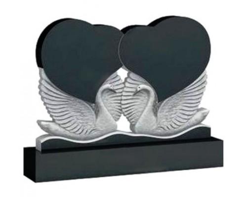 Памятник с лебедями для двоих sp01434