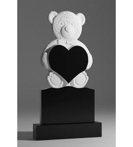 Детский резной памятник с мишкой sp01375