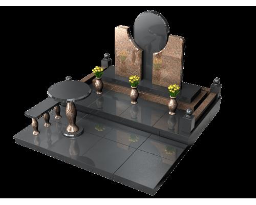 Оригинальный мемориальный комплекс из гранита - 3D модель