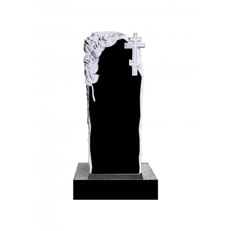 Гранитный резной памятник Розы и Крест