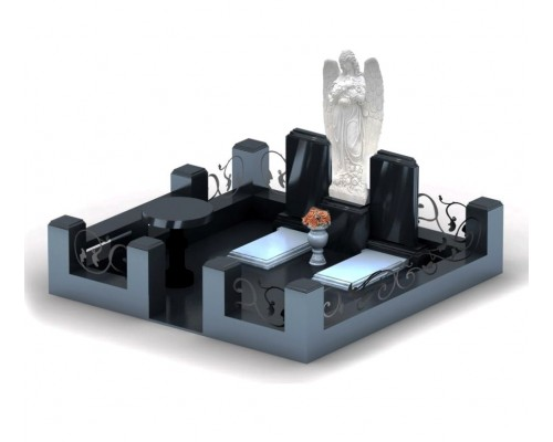 Семейный мемориальный комплекс с Ангелом - 3D модель