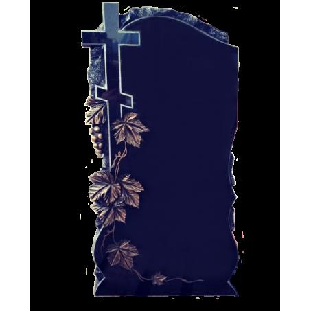 Вертикальный памятник на могилу Скала с Крестом и виноградной лозой