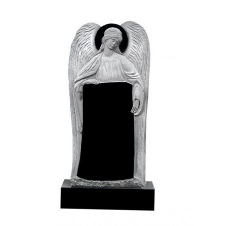 Элитный гранитный резной памятник с Ангелом