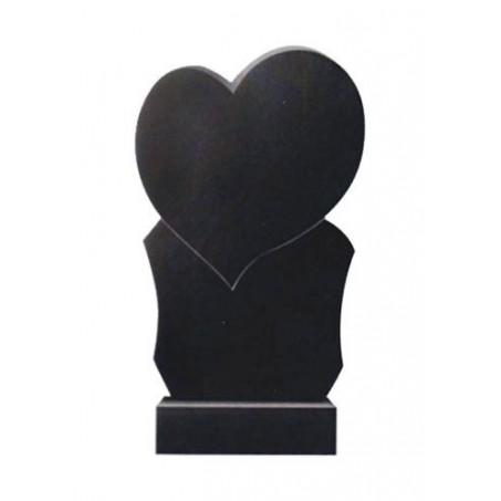 <b>Вертикальный гранитный памятник с сердцем</b>