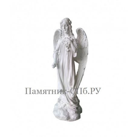 Скульптура на могилу Ангел с цветами