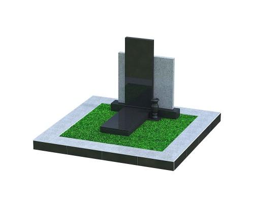 Одинарный элитный памятник - 3D модель