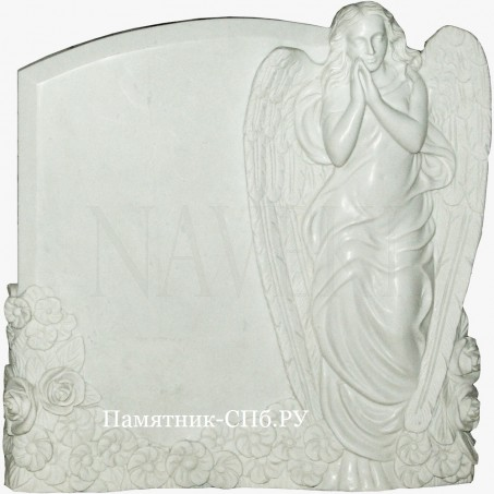 Стела-памятник ангел из мрамора