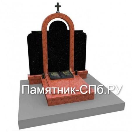 Мемориальный комплекс на могилу из гранита