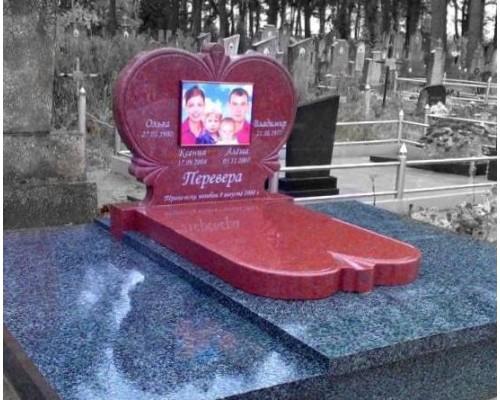 Мемориальный семейный памятник Сердце sp1578