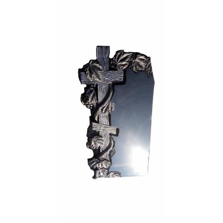 Вертикальный памятник на могилу с Крестом, обвитым виноградной лозой