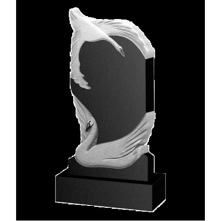 Резной памятник на могилу Лебединая верность