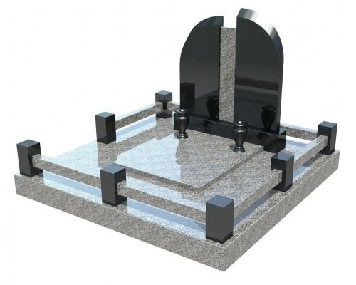 Семейный элитный памятник для двоих - 3D модель