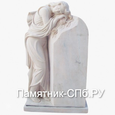 Скорбящая у надгробья