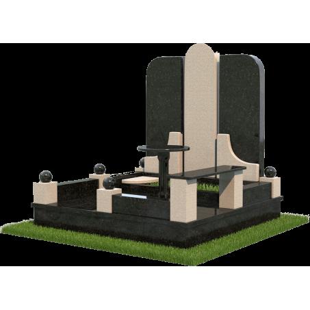 Семейный мемориальный комплекс из гранита для двоих