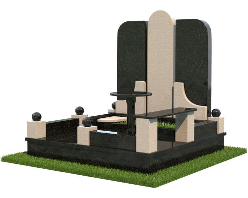 Семейный мемориальный комплекс из гранита - 3D модель