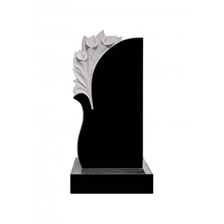 Памятник на могилу с резными цветами - Каллы