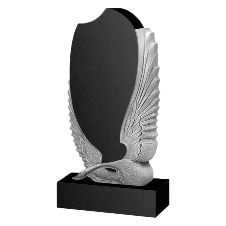 Памятник на могилу с резным Лебедем