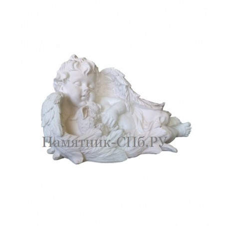 Скульптура ангелочка на могилу арт9